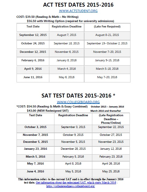 New SAT Dates for 2017, 2018 & 2019 | The Edge Learning Center